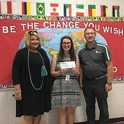 oy Kniceley receives a $500.00