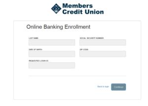 Online Banking Enroll Screen